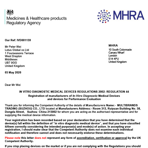 MHRA Report